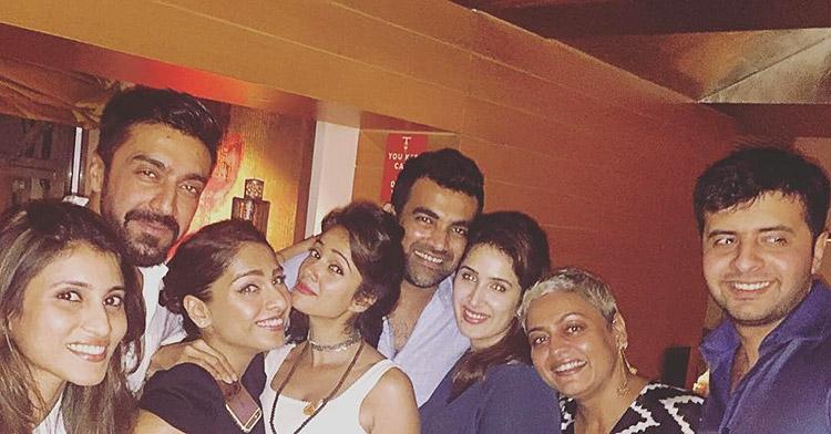 Sagarika Ghatge at Zaheer Khan's birthday party