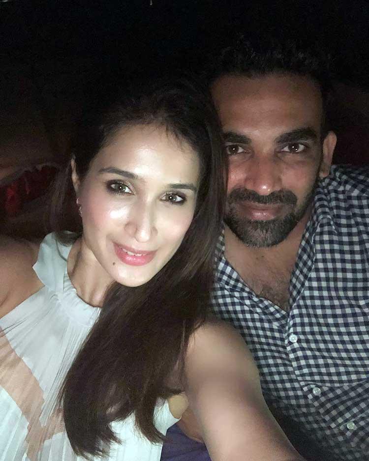 Zaheer Khan and Sagarika Ghatge's lovely selfie from their honeymoon