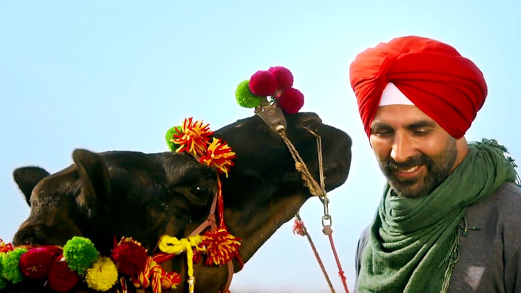Akshay Kumar in a still from Singh is Bliing