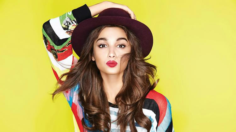 This colourful wallpaper with Alia Bhatt in it is brimming with happiness