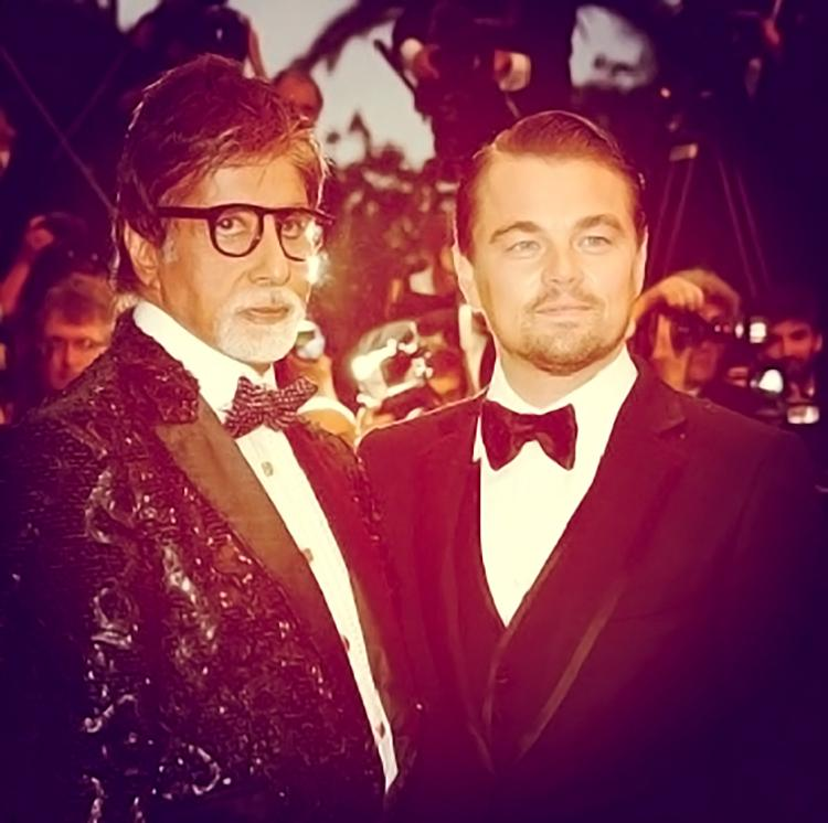 Amitabh Bachchan shared a candid moment with Leonardo diCaprio on his Instagram