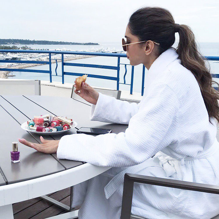 Deepika Padukone's breakfast time at Cannes