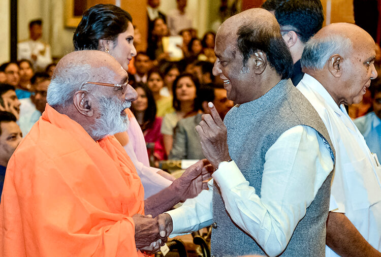 Rajinikanth at Padma Award event