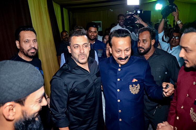 Salman Khan at Baba Siddique's Iftaar party