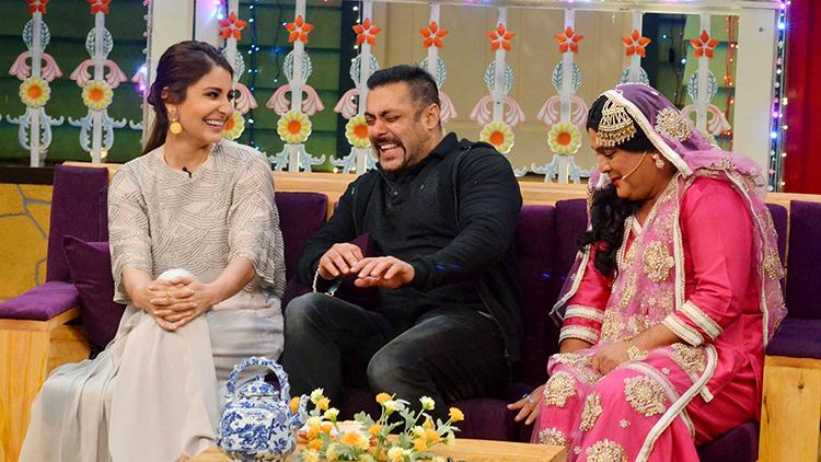 Salman Khan caught candid on the sets of The Kapil Sharma Show