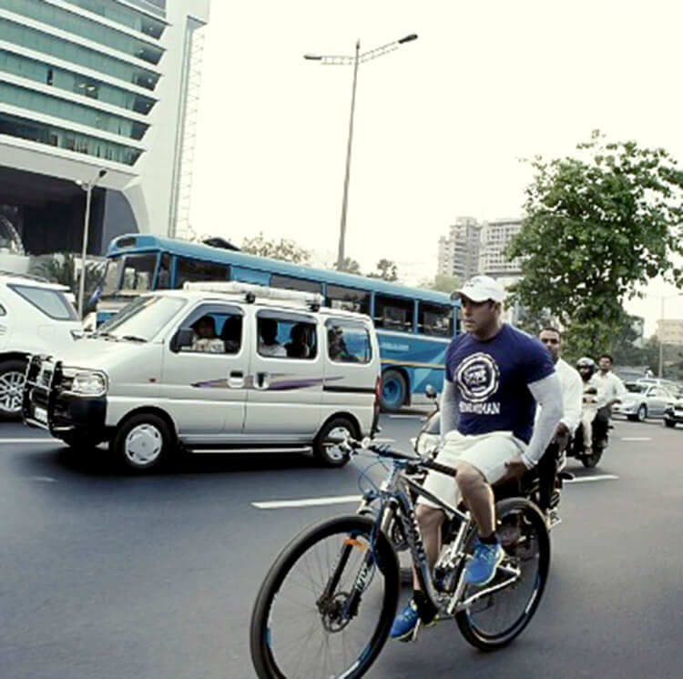 This photo of Salman Khan cycling from his personal album is a motivation