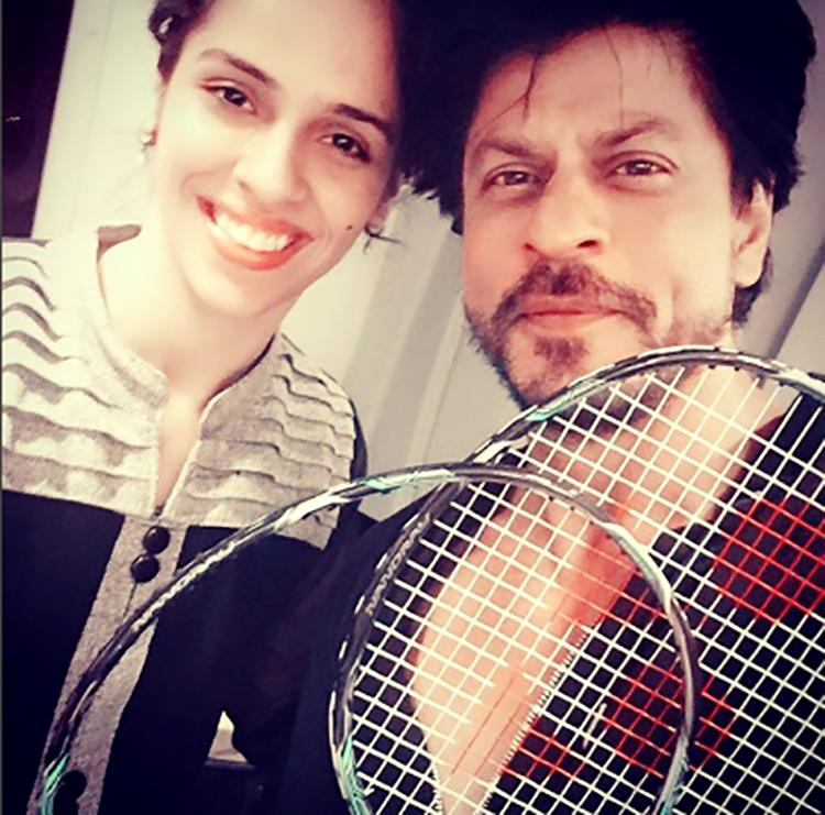 Shah Rukh Khan shares his tuk tuk moment with Saina Nehwal on Instagram