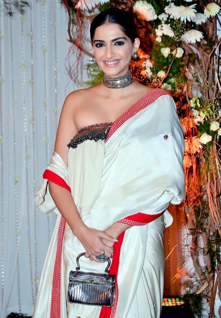 Sonam Kapoor at Bipasha Basu's wedding reception party