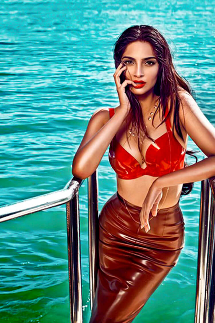 Sonam Kapoor in bikini for GQ