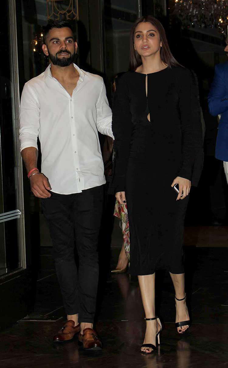 b920cee0f1 Anushka Sharma and Virat Kohli won all the attention at Zaheer Khan s  engagement