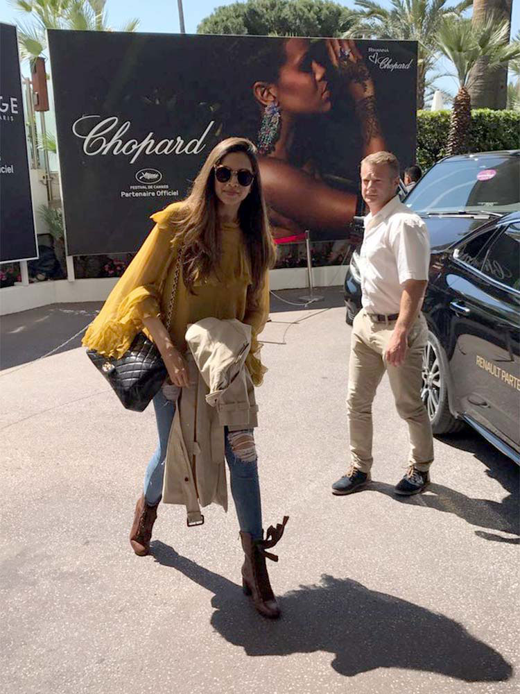 Deepika Padukone's airport look from the Cannes