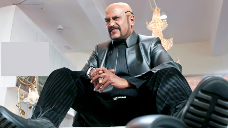 Rajinikanth in a still from Sivaji The Boss