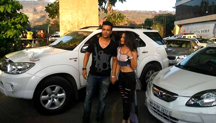 Aamir and Sanjeeda at Justin Bieber concert