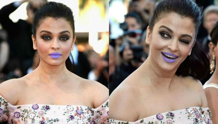 Aishwarya Rai, Purple Lips
