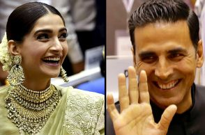 Akshay Kumar Sonam Kapoor PTI photos from National Film Awards 2017