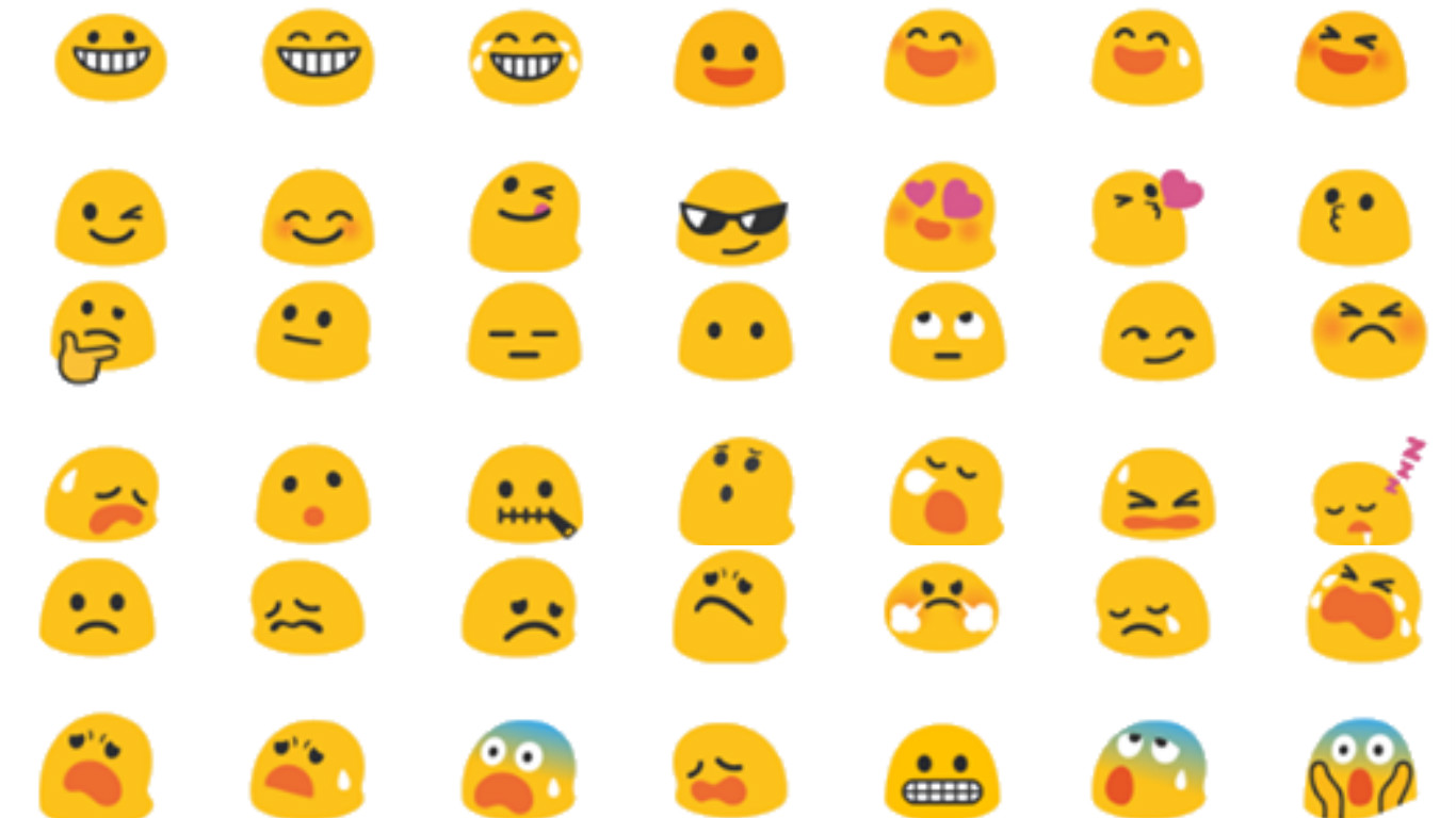 emoji blobs, android