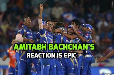 Amitabh Bachchan reacts on Mumbai Win, Mumbai Indians win Ipl 2017