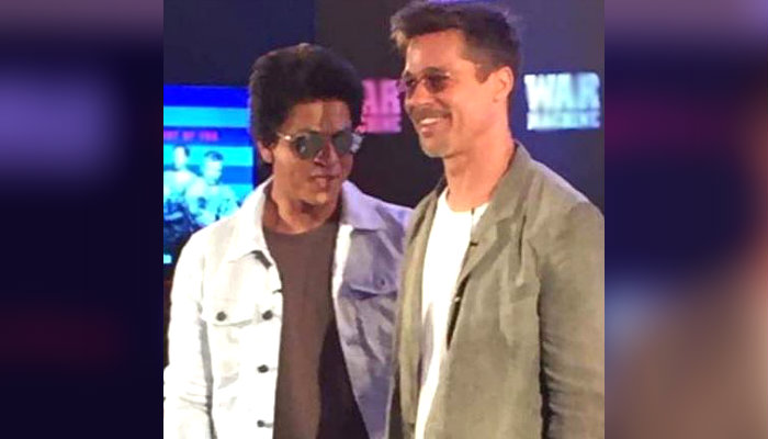 Brad Pitt and Shah Rukh Khan
