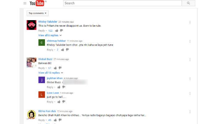 Salman Khan, Radio Song, Tubelight, comments on YouTube