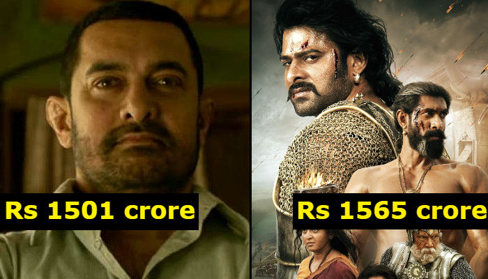 Dangal, Bahaubali 2 Worldwide Box Office collection