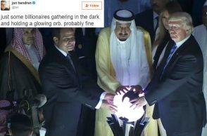 Donald Trump, Saudi Arabia, Orb