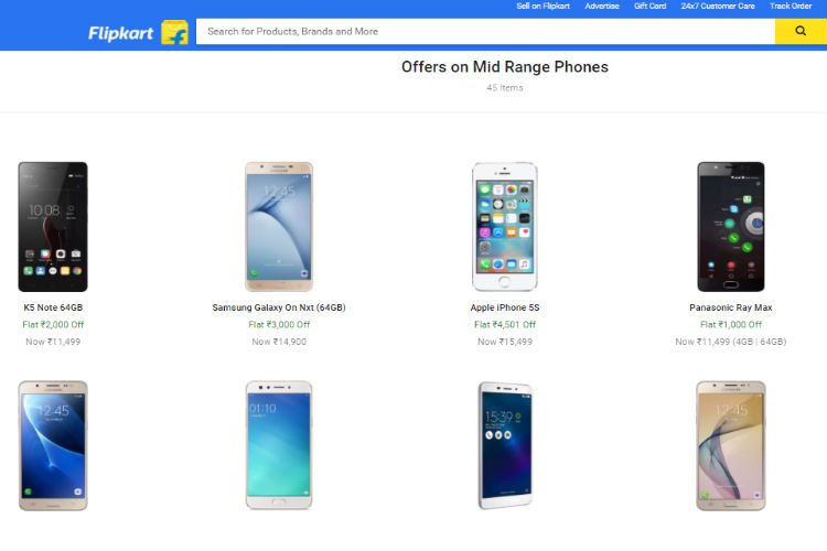 smartphone sale, flipkart
