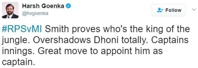Harsh Goenka's tweet