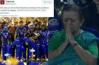 IPL 2017, MI vs RPS, Praying Aunty