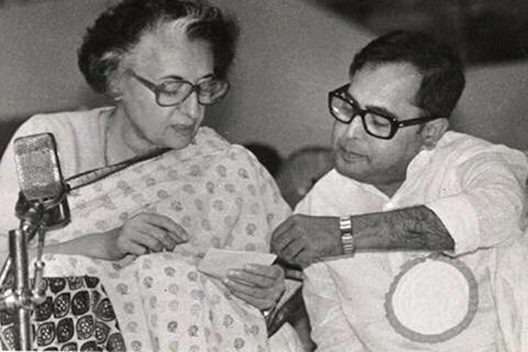 Indira Gandhi and Pranab Mukherjee