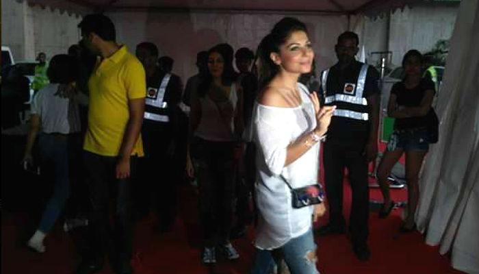 Kanika Kapoor at Justin Bieber concert