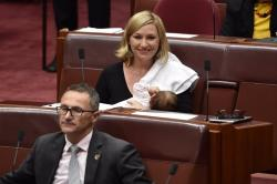 This Australian Senator has become the first politician to breastfeed in Parliament. See photos