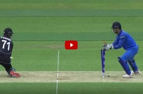 MS Dhoni stumping