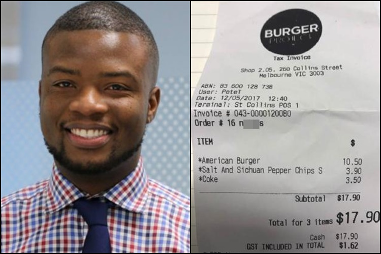 Neil Perry's Burger Project under fire after racist slur appears on receipt
