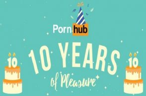 Pornhub celebrates its 10th anniversary