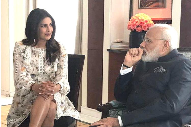 Priyanka Chopra and Narendra Modi