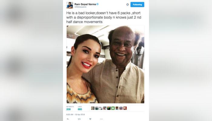 Ram Gopal Varma tweet about Rajinikanth (Courtesy: Twitter/ RGVzoomin)