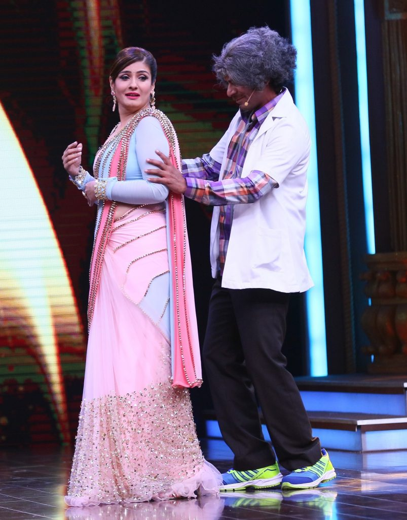 Sunil Grover and Raveena Tandon