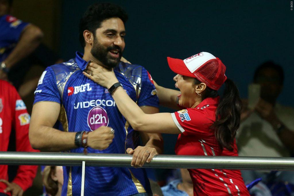 Abhishek Bachchan, Priety Zinta t Wankhede Stadium