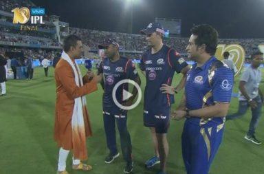 Sachin Tendulkar, Mumbai Indians, MI vs RPS, IPL 2017 final