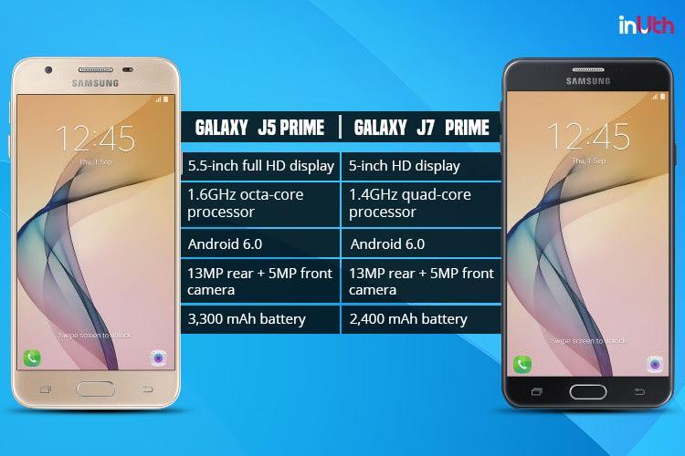 Samsung Galaxy J7 Prime Vs J5