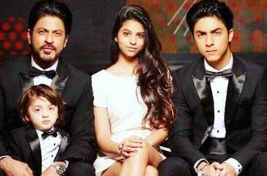 Shah Rukh Khan, AbRam Khan, Aryan Khan, Suhana Khan