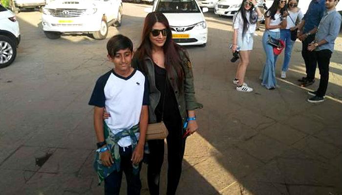 Sonali Bendre at Justin Bieber concert