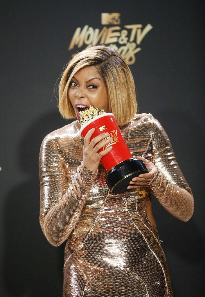 "2017 MTV Movie and TV Awards – Photo Room – Los Angeles, U.S., 07/05/2017 – Taraji P. Henson - Best Fight Against the System for ""Hidden Figures"". REUTERS/Danny Moloshok"