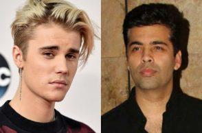Justin Bieber and Karan Johar.