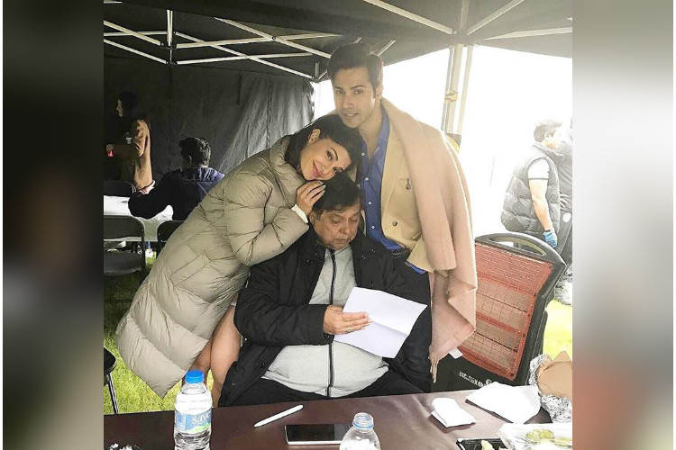 See photos: Varun Dhawan, Jacqueline Fernandez and Anupam Kher are having a gala time on the sets of Judwaa 2