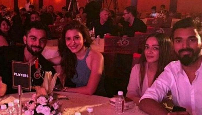 Virat Kohli, Anushka Sharma at RCB's party