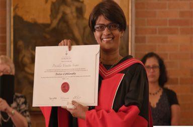 Precilla Veigas, Precilla Veigas Convocation, Precilla Veigas Photos, Precilla Veigas PhD, University of Toronto, Canadian University