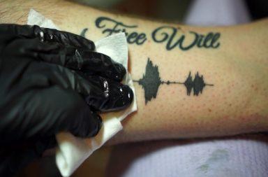 Soundwave tattoos, skin motion, nate siggard, audio tattoos