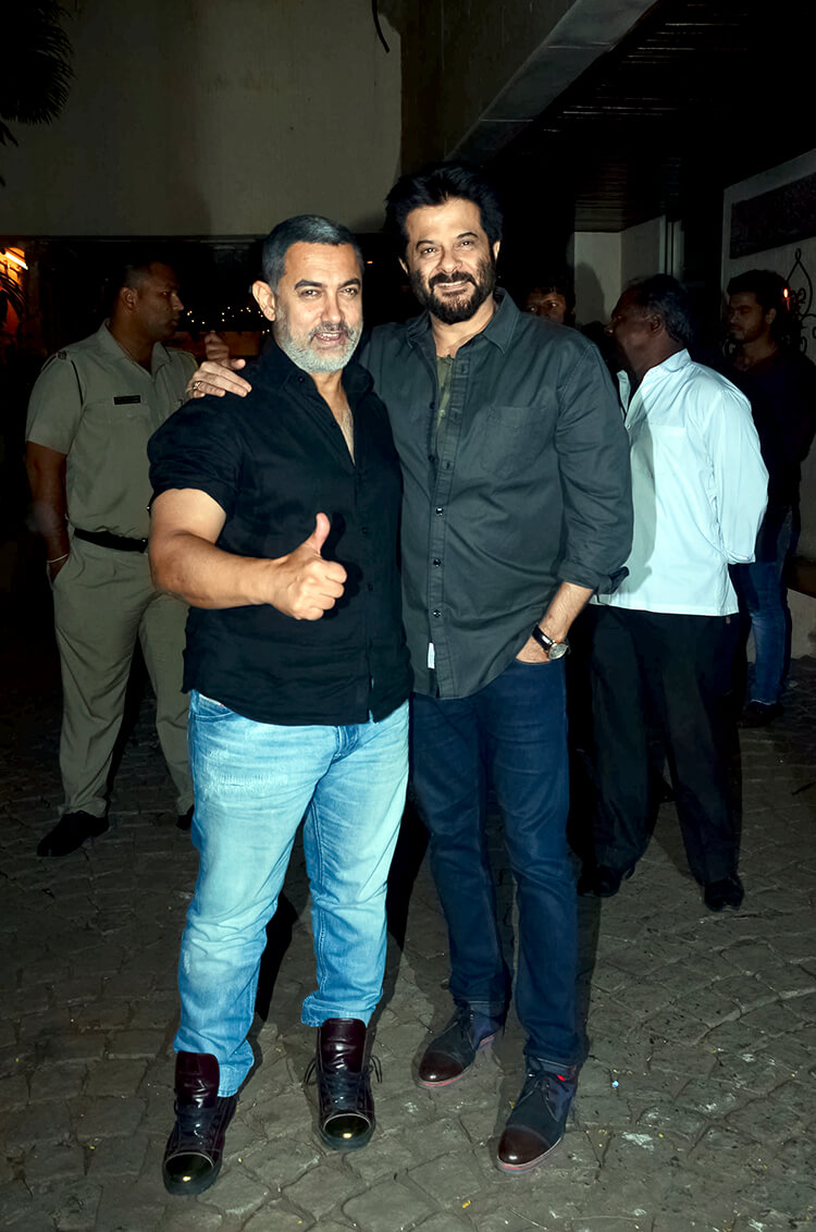 Aamir Khan at Anil Kapoor's 59th birthday party