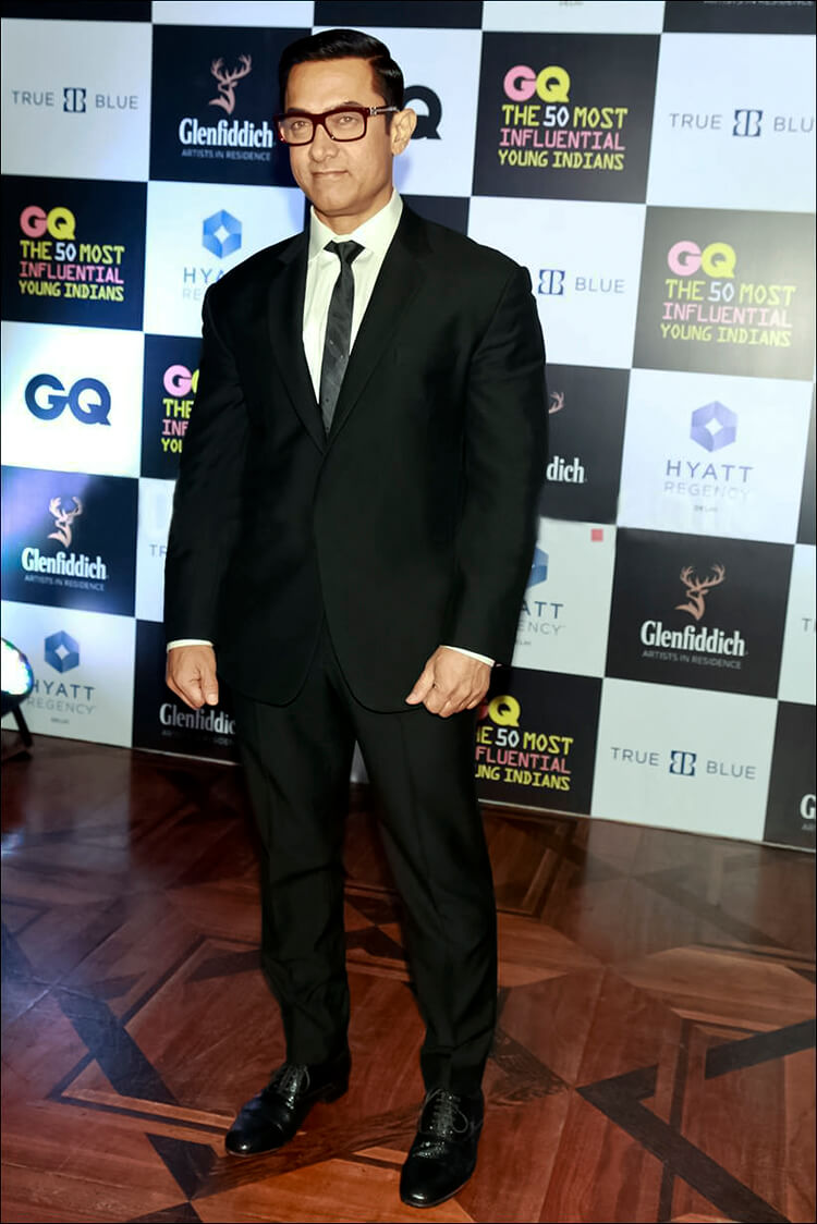 Aamir Khan at GQ's 50 Most Influential Young Indians event